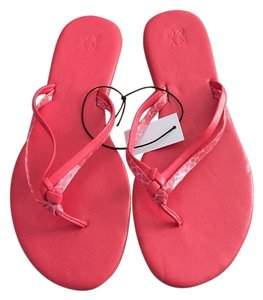 New York & Company And Flip Flops Size 8 Coral Orange Sandals