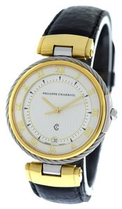 Philippe Adec Philippe Charriol Gold Plated Stainless Steel Date Quartz Swiss Watch