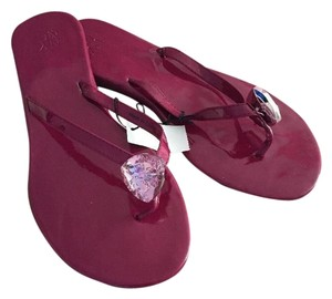 New York & Company And Pink Flip Flops Size 8 Purple, Pink Sandals