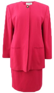 Jones New York Jones New York Woman Magenta/Pink Polyester Formal/Career Skirt-suit Size