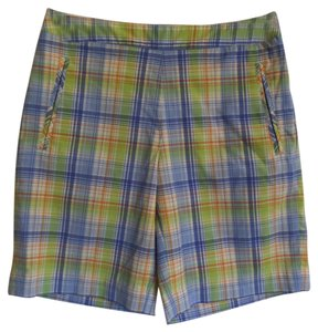 Liz Claiborne Bermuda Shorts Multi Colored Plaid