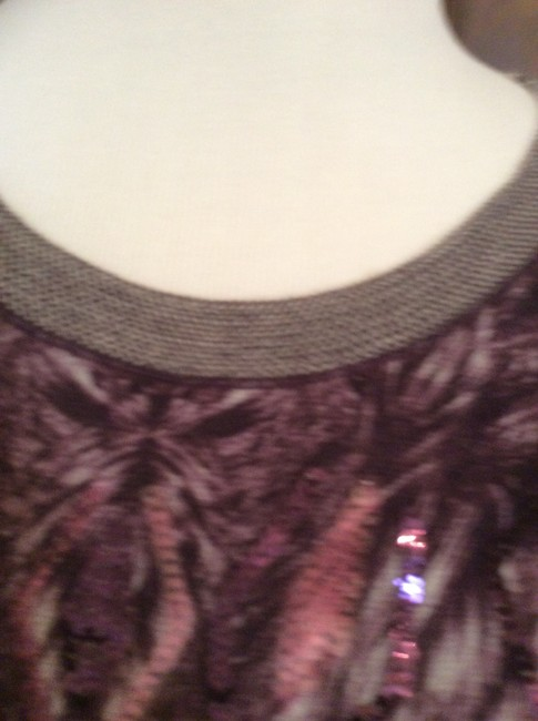 Fuzzi Top Multi-colored in shades of lavender