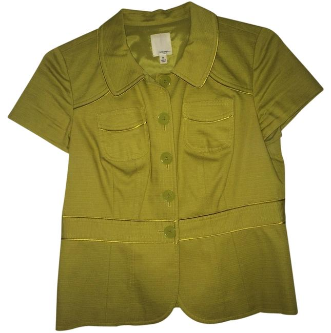 Preload https://item1.tradesy.com/images/lime-green-button-down-top-size-8-m-3095755-0-0.jpg?width=400&height=650