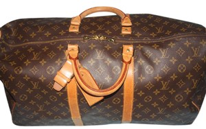 Louis Vuitton Weekend Monogram Canvas Boston Keepall Brown Monogram Travel Bag