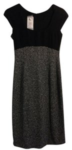 Armani Collezioni Business Professional Texture Tweed Fitted Scoop Neck New Dress