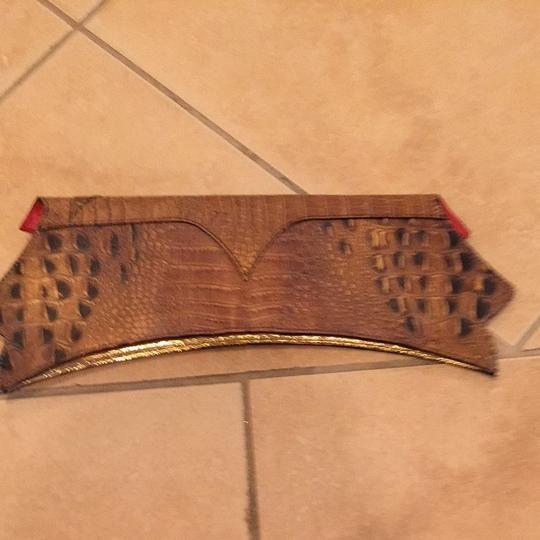Yudit M Gold/ Brown Clutch