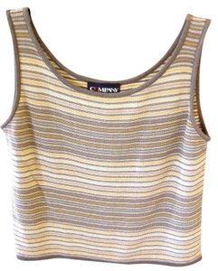 Ellen Tracy Top Olive, Cream, Gold