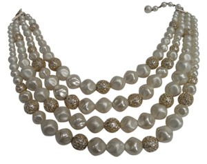 Four Strand Baroque Pearl Necklace