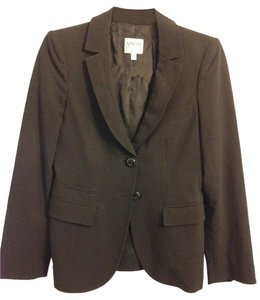 Armani Collezioni Classic Timeless Business Professional Suiting Jacket Made In Italy Italian Black Blazer