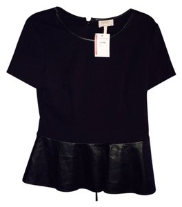 Laundry by Shelli Segal Nwt Peplum Top Black