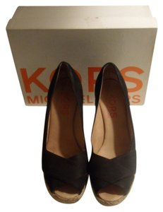 Michael Kors Espadrille Black Wedges