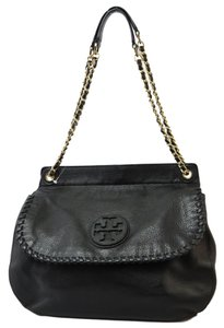 Tory Burch Marion Saddle Leather Shoulder Bag