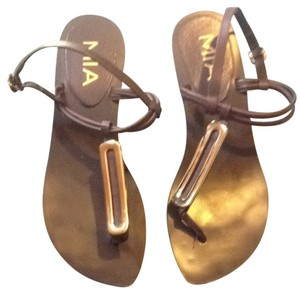 Mia Shoes Brown With Gold Sandals