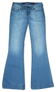 Express Fit Skinny Strech Stretchy Flare Leg Jeans-Light Wash