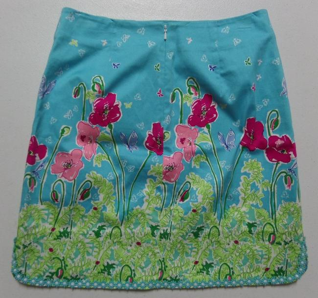 Island Republic Skirt Blue with Red & Pink Floral Print