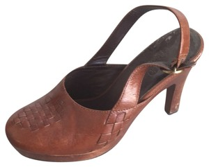 Cole Haan Brown Leather Mules