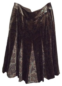 Ann Taylor LOFT Skirt Brown and paisley