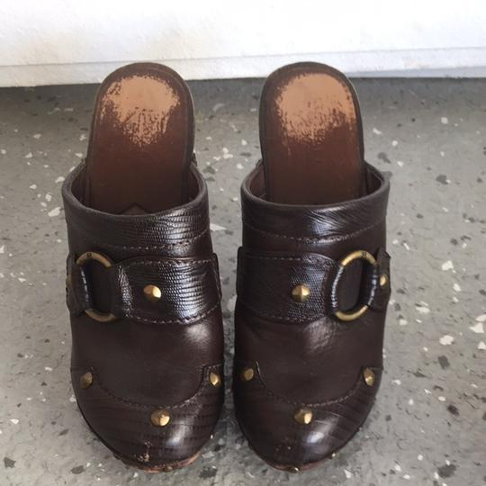Michael Kors Brown Leather Mules
