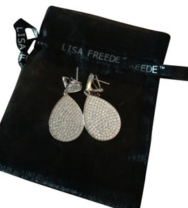 Lisa Freede Rose Gold Pave Earrings