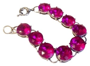 NWOT Designer Inspired Boutique Glass Cut Hot Pink Bracelet, Gorgeous!!