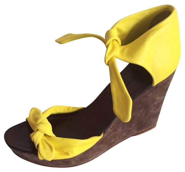 Sigerson Morrison Yellow Wedges Size US 7 Regular (M, B) Sigerson Morrison Yellow Wedges Size US 7 Regular (M, B) Image 1