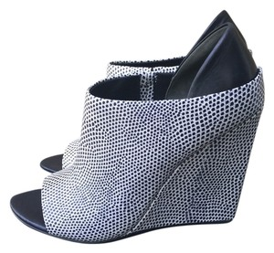 Alexander Wang black and white Wedges