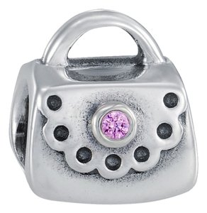 PANDORA PANDORA PURSE CHARM PINK CZ STERLING SILVER **RETIRED**