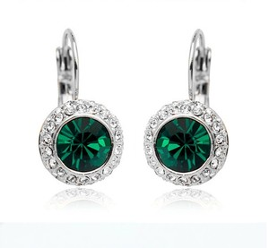 Other Green Crystal Earrings Austrian Rhinestone Crystal Dangle Crystal Earrings Bridesmaid Gift Weddings Jewelry