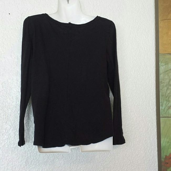 Anthropologie Pure Good Neck Long Sleeve T Shirt Black