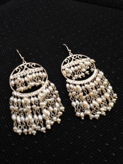 Other silver and faux pearl earrings