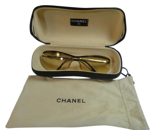 Preload https://item1.tradesy.com/images/chanel-golden-brown-ladies-gold-frame-sqaure-4043-c12589-120-with-case-sunglasses-3099370-0-0.jpg?width=440&height=440