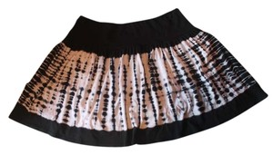Aqua Tie Dye Mini Skirt Black and White