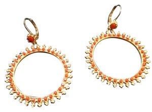 Other coral and gold earrings