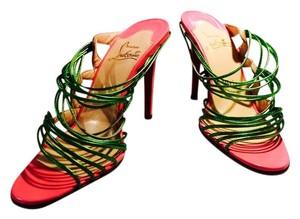 Christian Louboutin Neon Green & Pink Sandals