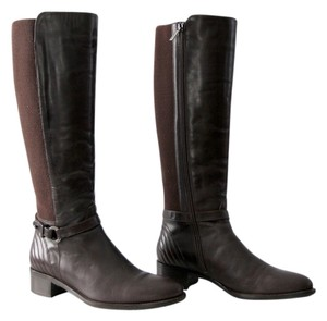 Aquatalia by Marvin K. Leather Equestrian Tall Brown Boots