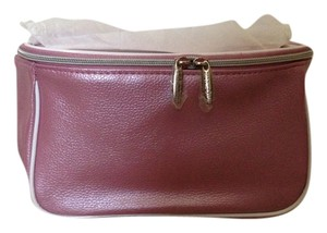 Satchel in Pink with white and silver trim