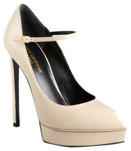 Saint Laurent Mary Jane Yves Nwt Nude Platforms