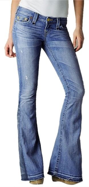 Preload https://item2.tradesy.com/images/true-religion-blue-medium-wash-new-love-and-haight-flare-leg-jeans-size-25-2-xs-3100516-0-0.jpg?width=400&height=650