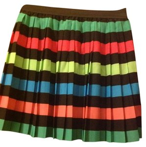 H&M Skirt Black, green, yellow, blue and pink