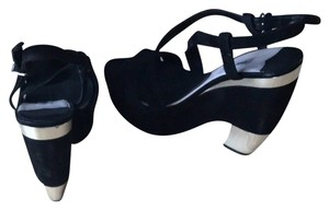 Miu Miu Made in Italia Black Platforms