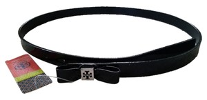 Tory Burch Tory Burch Black Patent Bow Belt