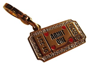 Juicy Couture New Juicy Couture Admit One Kissing Booth Ticket Charm & Rare