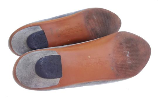 The United States Shoe Corporation Vintage Loafer Suede Grey Pumps
