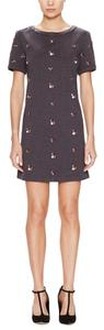 The Letter short dress Charcoal Jewel Embellished Shift on Tradesy