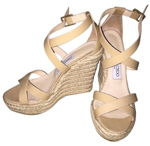 Jimmy Choo Nude/beige Wedges