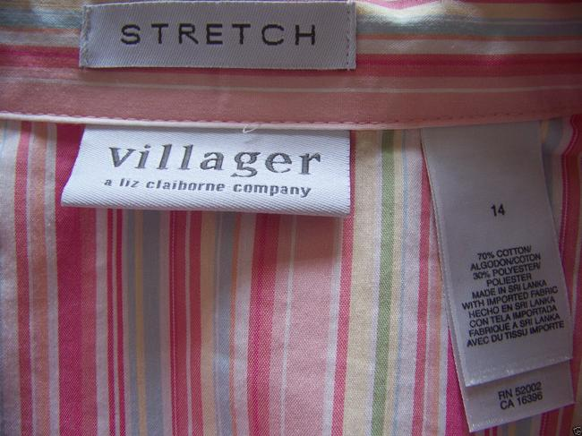 Villager Button Down Shirt Multi Color Striped