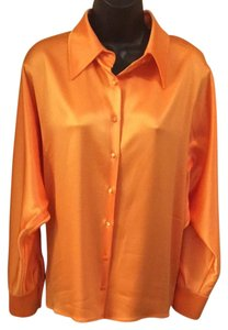 St. John Button Down Shirt Orange