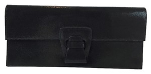 Jil Sander Stingray Leather Black Clutch