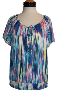 New Directions Top Multi Color Striped