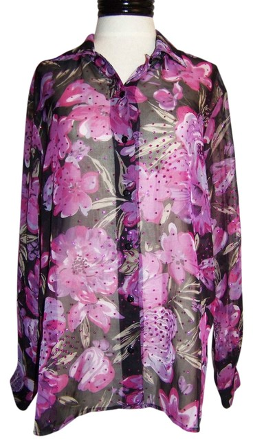 Preload https://item1.tradesy.com/images/notations-top-purple-floral-print-3102430-0-0.jpg?width=400&height=650